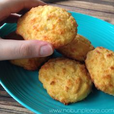 Zesty Cheddar Biscuits {Low-Carb/Gluten-free} - can modify for biscuits & gravy