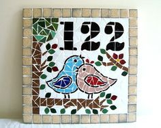 Driftwood Wreath & Maine Made Wreath & Turquoise-Aqua-Sea Foam Green-White Sea Glass Accents & Driftwood Decor & Driftwood Wall Art Stained Glass Designs, Mosaic Designs, Mosaic Patterns, Mosaic Diy, Mosaic Crafts, Mosaic Glass, Mosaic Animals, Mosaic Birds, Diy Photo Frame Cardboard