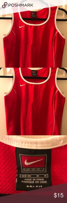 Nike tennis top Red Nike tennis/work out top. Size Medium. Nike Tops Tank Tops