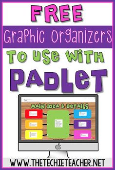 How to Customize Padlet Walls: Plus FREE Graphic Organizers! Free graphic organizers and tutorial on how to custom Padlet walls. Great for communication and collaboration when using technology in the classroom. Works on laptops, chromebooks and iPads. Teaching Technology, Technology Integration, Educational Technology, Technology Websites, Business Technology, Technology Design, Medical Technology, Technology Gadgets, Technology Logo