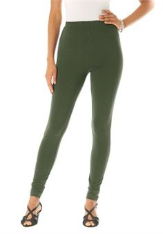 Petite Essential Stretch Knit Ankle Length Leggings
