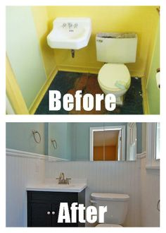 This Half Bathroom Renovation Was On A Budget The Half Bathroom Was - Bathroom remodel bloomington mn