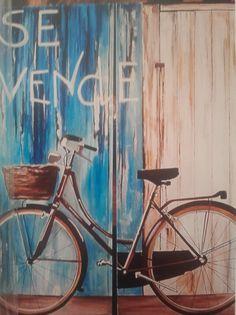 Bici, se vende ! - Oleo sobre tela #sandraromani #artonbcn #artecontemporaneo #artebenarcelona #pintura