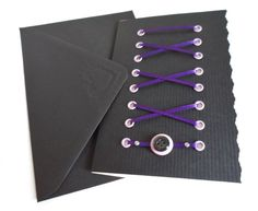Handmade Corset Card - Perfect for a Gothic Wedding or Alternative Celebration