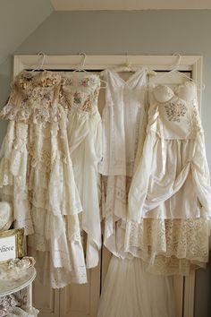 Hopefully Romantic Designs by Katherine: The Romance of My Gowns, Unique Wedding Gowns with. Country Wedding Gowns, Unique Wedding Gowns, Unique Weddings, Ballet Wedding Shoes, Shabby Chic Interiors, Pretty Dresses, Vintage Dresses, Strega, Romantic Ideas