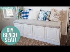 Super Ideas For Banquette Seating Hack Ikea Cabinets Ikea Bench, Diy Bench Seat, Storage Bench Seating, Bench With Storage, Banquette Seating, Seating Plans, Corner Banquette, Entryway Bench, Ikea Cabinets
