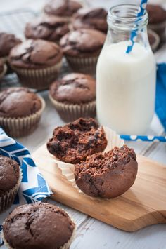 Easy Chocolate Muffins with Chocolate Chips. You can't go wrong with these chocolate chip muffins with dark chocolate chips. They're easy to make and they taste delicious. You family will thank you.