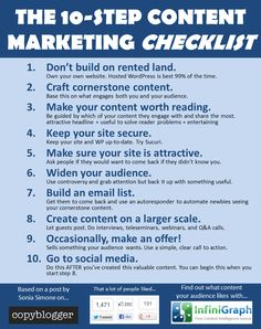 The 10-Step #ContentMarketing Checklist