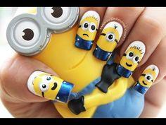 Decoración de uñas Minions - Minions nail art tutorial - http://www.nailtech6.com/decoracion-de-unas-minions-minions-nail-art-tutorial/
