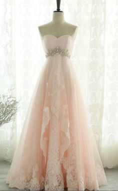 Prom Dresses Beautiful, Pink Sweetheart Beading Lace Tulle Lace Up Open Back A-Line Long Prom Dress, Prom Dresses, Looking for the perfect prom dress to shine on your big night? Prom Dresses 2020 collection offers a variety of stunning, stylish ball. Strapless Homecoming Dresses, Cute Prom Dresses, Elegant Dresses, Pretty Dresses, Beautiful Dresses, Wedding Dresses, Dress Prom, Dresses Dresses, Formal Dresses