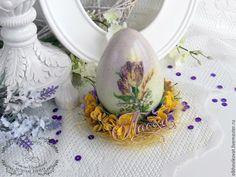 """Купить Пасхальное яйцо """"Тюльпаны"""", декупаж, объемные элементы, декор - Пасха, пасхальное яйцо"""