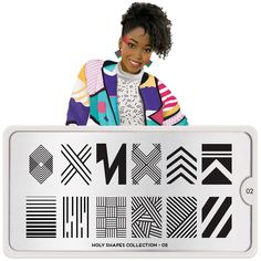 Holy Shapes Plate Collection - Your favourite nail art image plates. Triangles, Circles squares, rectangular and all your favourite shapes & designs engraved on stainless steel Nail art stencils. MoYou-London an award winning nail art brand. Nail Art Designs Images, Nail Designs, Nail Stamper, Prince Of Bel Air, Fresh Prince, Nail Art Stamping Plates, Nail Plate, London Nails, Image Plate
