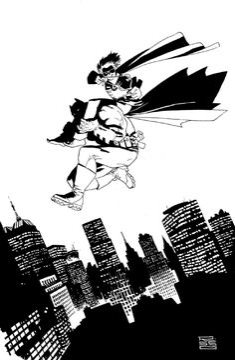 Dark Knight Returns by Eduardo Risso , in Jean-Michel Anneau's Dark Knight Returns Comic Art Gallery Room Batman And Batgirl, Batman Art, Dc Comics Art, Marvel Comics, Comic Books Art, Comic Art, Dark Knight Returns, Frank Miller, Batman Universe