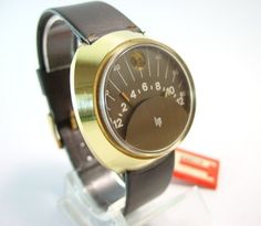 Lip Secteur round vintage jump watch