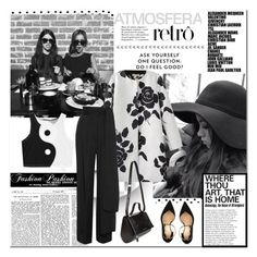"""""""Black&White"""" by mairoula4189 ❤ liked on Polyvore featuring Lanvin, Aperlaï, Givenchy, Christian Lacroix, vintage, women's clothing, women, female, woman and misses"""