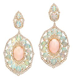 Coral and Opal Drop Earrings | Cellini Jewelers