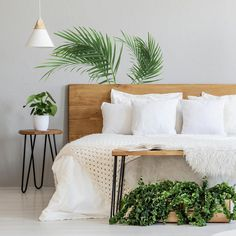 Transport your space with Palm Leaf Peel and Stick Giant Wall Decals. Easy to remove, simply peel and stick to a smooth surface for an instant update. Green And White Bedroom, White Room Decor, Green Rooms, Beachy Room Decor, Gold Bedroom, Small Room Bedroom, Room Ideas Bedroom, Small Rooms, White Wall Bedroom