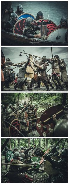Vikings Viking Battle, Viking Armor, Larp Armor, Medieval Armor, Medieval Fantasy, Viking Reenactment, Viking Culture, Old Norse, Viking Clothing