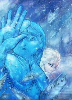 """Have you been wondering what went through Elsa's mind when Anna turned to ice? In """"Fractal Memories,"""" this artist thinks just as the sword shattered all her childhood memories came rushing back. <<<<<< I just got run over by the feels truck. OH MY GOSH *runs to a corner and sobs*"""
