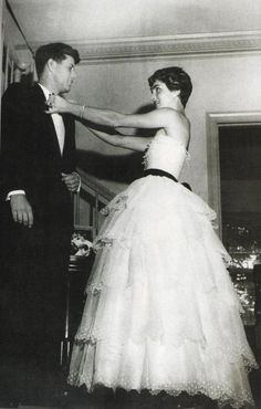 Jackie O and JFK on their wedding day.