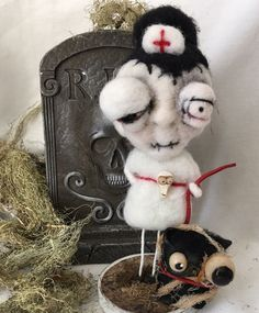 This zombie nurse is coming to Halloween and Vine! She was created by returning artist Kerry Howard-Schmidt from Paper Moon Gallery.