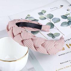 Korean Fashion Solid Velvet Fabric Braid Headband With Teeth Women For Hair Accessories Twists Hairband Girls Wide Hair Hoop Headband Hairstyles, Braid Headband, Hair Hoops, Curly Hair Cuts, Headdress, Hair Band, Korean Fashion, Braids, Gingham