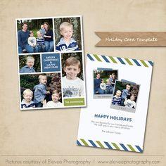 PSD Christmas Photo Card Template 5x7 flat card par MarketingMall, $7.00