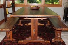 Refab trestle dining table