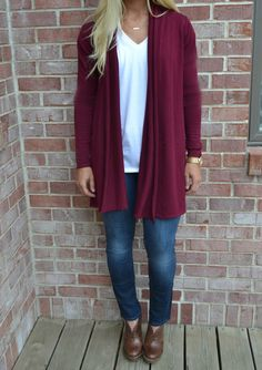 Dreamers by Debut Burgundy Cardigan                                                                                                                                                                                 More