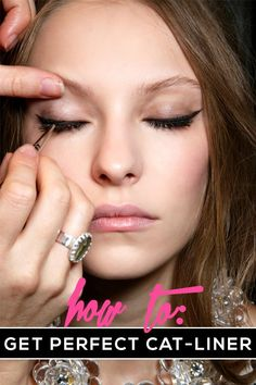 Cat Eye Makeup Tips - An easy way to get the perfect winged liner look, every time! | @stylecaster