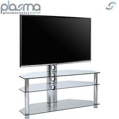 Mmt #scc-61 #clear cantilever tv #stand,  View more on the LINK: http://www.zeppy.io/product/gb/2/131955653197/