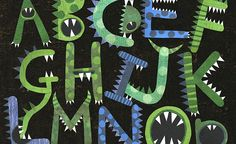 What fun to make ABC monsters with lots of teeth. These could be used for counting as well as spelling and learning letters... Communication Arts magazine has recently stared accepting entries for the 4th (2014) edition of their annual juried typography competition.