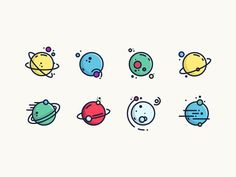 Small Planets by Pavlo Aliko - Dribbble