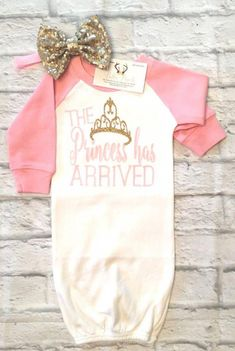 Excited to share this item from my shop: Baby Girl Clothes, The Princess Has Arrived Raglan Gown, Princess Shirts, The Princess Has Arrived, Raglan Shirts Princess Bodysuits Baby Outfits, Baby Dresses, Newborn Outfits, My Baby Girl, Baby Love, Baby Girl Stuff, Baby Girl Princess, Baby Girl Onsies, Baby Girl Fashion
