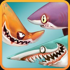 I've concepted almost all the playable characters on Hungry Shark World. These are all based off prehistoric and existing shark species (plus a few other creatures). I hope you can still tell what they are! I made their natural colours bolder and Dolphin Art, Shark Art, Shark Facts For Kids, Character Concept, Concept Art, Cool Sharks, Animal Games, Creature Design, Sea Creatures