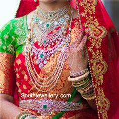 Bride in Diamond Jewellery photo