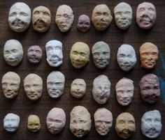 Seed Faces, Kelsey Pike's line of organic seed sprouting countenances made from recycled paper pulp.