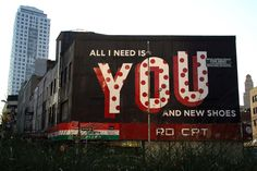 Love Letter project by Stephen Powers with the City of Philadelphia Mural Arts Program