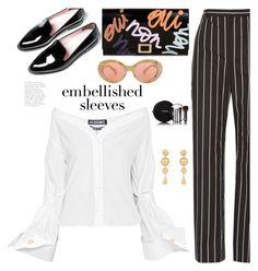 """""""Make a Statement: Embellished Sleeves"""" by hamaly ❤ liked on Polyvore featuring Balenciaga, Roger Vivier, Jacquemus, J.W. Anderson, Chanel, Acne Studios, ootd and embellishedsleeves"""