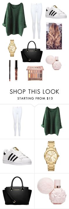 """Untitled #164"" by sadiecoda on Polyvore featuring Miss Selfridge, adidas, Michael Kors, MICHAEL Michael Kors and Urban Decay"