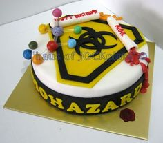 Now That's an awesome Science Laboratory - Biohazard cake.