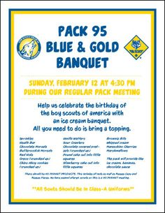 cub scout blue and gold program template - 1000 images about cub scouts blue gold banquet ideas