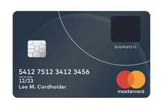 Biometric bank card with fingerprint reader on trial phase Mastercard Gift Card, Biometric Authentication, Fingerprint Cards, Credit Card Design, Pin Card, New Credit Cards, Finger Print Scanner, Card Reader, Smartphone