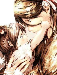 Rukia and Byakuya> Dis is so sweet.....even though he didn't know her when she was a baby....