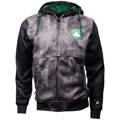 Men's Zipway Boston Celtics Denim Effect Fleece Hoodie, Size: Medium, Ovrfl Oth