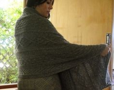 Sylvia by Wei S. Leong is a gorgeous cabled shawl knit with Stansborough Mythral