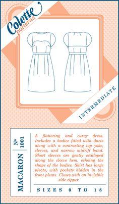 """Macaron"" dress. Colette Patterns 1001 #sewing #pattern #dress"