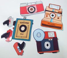 {vintage camera stickers}