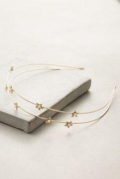 Anthropologie Pearled Starlight Headband