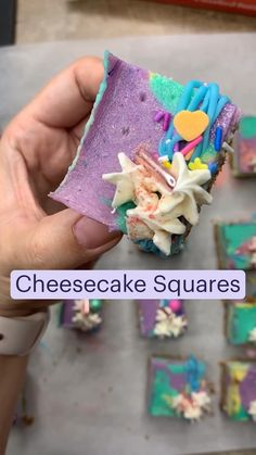 Cashew Cheesecake, Cheesecake Squares, Sweets Recipes, Cookie Bars, Brownies, Delish, Deserts, Cookies, Baking